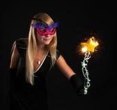 Beautiful magician Royalty Free Stock Photo