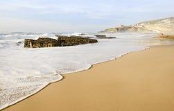 Beautiful Magoito beach. Beautiful coastline of Magoito beach. Portugal near Sintra Royalty Free Stock Photo