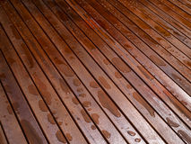Beautiful mahogny hardwood floor. Beautiful design outdoors deck mahogny hardwood floor Royalty Free Stock Photography