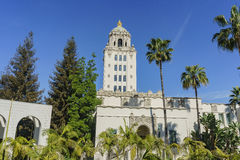 Beautiful main building of Beverly Hills city hall. Los Angeles, California Royalty Free Stock Photography