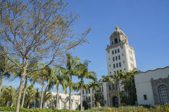 Beautiful main building of Beverly Hills city hall Royalty Free Stock Images