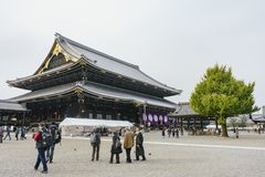 The beautiful main building of Higashi Hongan-ji Stock Image
