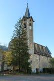 The beautiful and majestic Santuari de Lourdes de la Nou.  stock photography