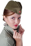 Beautiful majorette Royalty Free Stock Image