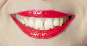 Beautiful make up of gloss lips Stock Photography