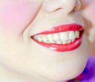 Beautiful make up of gloss lips Royalty Free Stock Images