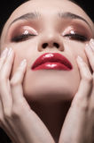 Beautiful make-up. Royalty Free Stock Image