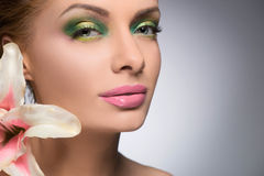 Beautiful make-up. Stock Photo