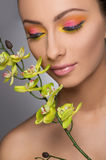 Beautiful make-up. Stock Image