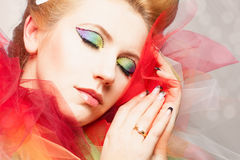 Beautiful make-up Royalty Free Stock Photography
