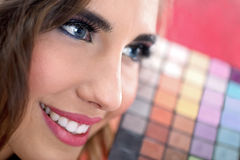 Beautiful make-up woman Royalty Free Stock Photos