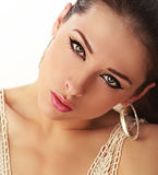 Beautiful make up woman face Stock Image