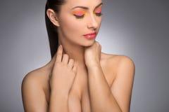 Beautiful make-up. Royalty Free Stock Photos