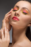 Beautiful make-up. Royalty Free Stock Photos