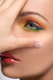 Beautiful make-up. Stock Images