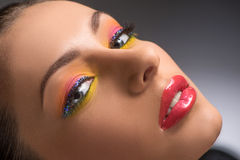 Beautiful make-up. Royalty Free Stock Photo