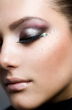 Beautiful Makeup. Beautiful Girls Face.Perfect makeup.Clear skin Stock Images