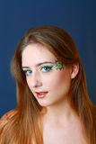 Beautiful makeup face art close up Stock Image