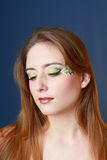Beautiful makeup face art close up Royalty Free Stock Photo
