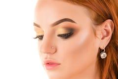 Charming makeup face girl close up Royalty Free Stock Photos