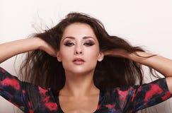 Beautiful makeup woman with long hair Royalty Free Stock Image