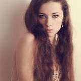 Beautiful makeup woman looking passion Royalty Free Stock Images