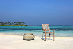 Beautiful Maldives beach Royalty Free Stock Image
