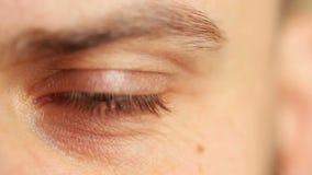Beautiful male eye stock footage