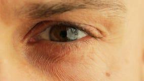 Beautiful male eye close-up stock video