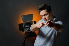 Beautiful male model posing at studio Royalty Free Stock Image