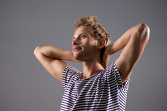 Beautiful Male Relaxing Stock Images