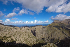 Beautiful Mallorca. Mallorca mountain view in the north of the island, Spain Stock Photography