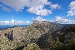 Beautiful Mallorca. Mallorca mountain view in the north of the island, Spain Royalty Free Stock Photography
