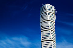 Beautiful Malmo Turning Torso, Distinctive City Landmark Royalty Free Stock Images