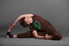 Beautiful man doing yoga Royalty Free Stock Image