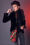 Beautiful man in exclusive design clothes Royalty Free Stock Photos