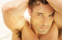 Beautiful man face royalty free stock photography