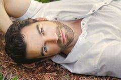 Beautiful man face Royalty Free Stock Image