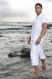 Beautiful man near the sea Royalty Free Stock Image