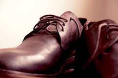 Beautiful man shoes. Classic design stock image