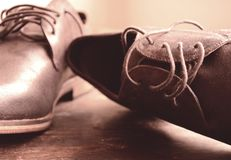 Beautiful man shoes Royalty Free Stock Photography
