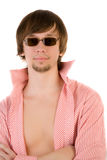 Beautiful man in sunglasses looking to the camera Stock Photo
