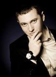 Beautiful man with watch Stock Photos