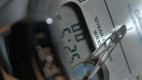 Beautiful Man watch with second arrow. Close up shot stock footage