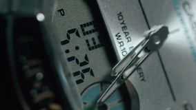 Beautiful Man watch with second arrow. Close up shot stock video footage
