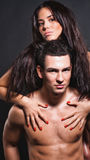 Beautiful man and woman royalty free stock images
