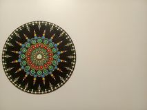 Beautiful mandala on the wall royalty free stock image