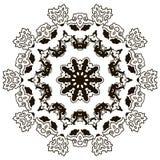 Beautiful mandala. Black and white. Stock Photo