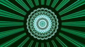 Beautiful mandala that glow, shine brightly that regulate subtle movements with colorful on a black background