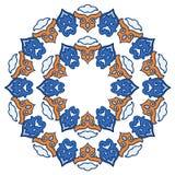 Beautiful mandala. Round ornamental pattern. Stock Photo